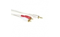Intronics High quality 2x tulp male naar 1x 3.5mm stereo jack male