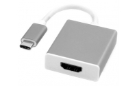 USB 3.1 Type-C Male to HDMI Female Adapter, Silver 10cm